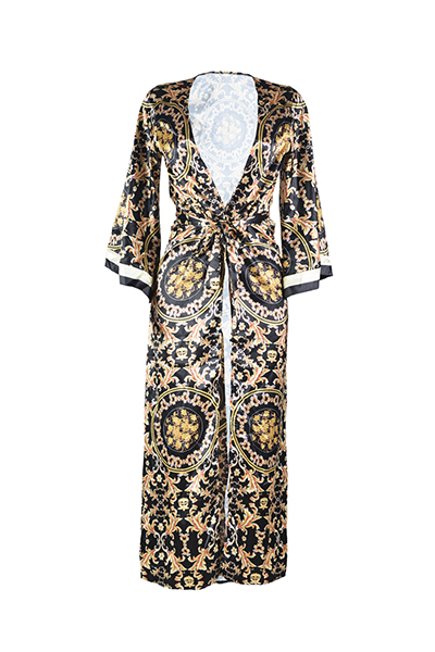 Polyester Print One Pieces (Inclure Coat)