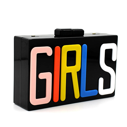 Fashion Letters Patchwork PVC Hasp Clutches Bags