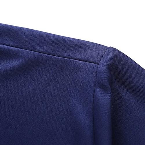 Ocio Manga corta Patchwork Rojo-mezcla de algodón azul dos-piece Cortos fijados