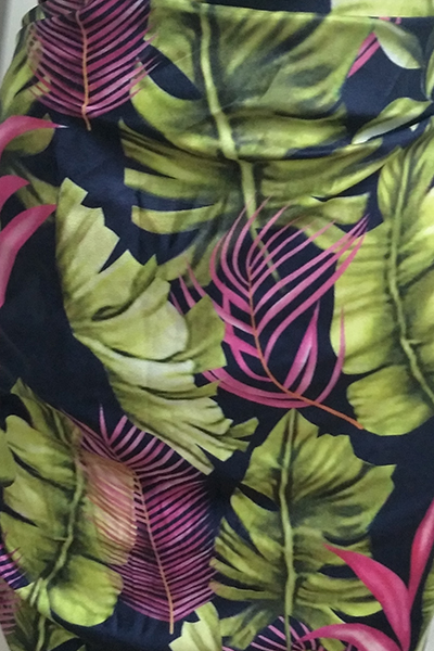 Euramerican Printed Polyester Two-piece Swimwear (With Shawl)