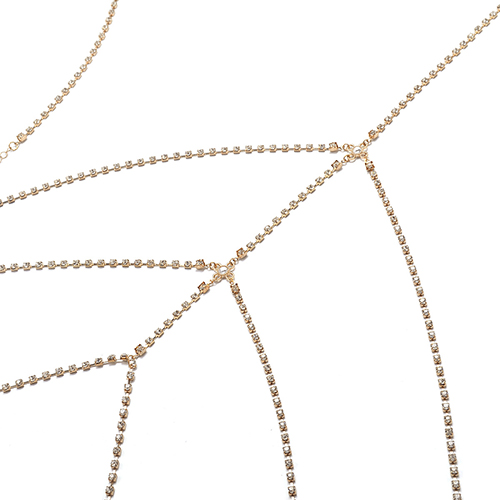 Fashion Hollow-out Gold Metal Body Chain