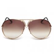 Stylish Gold Metal Sunglasses