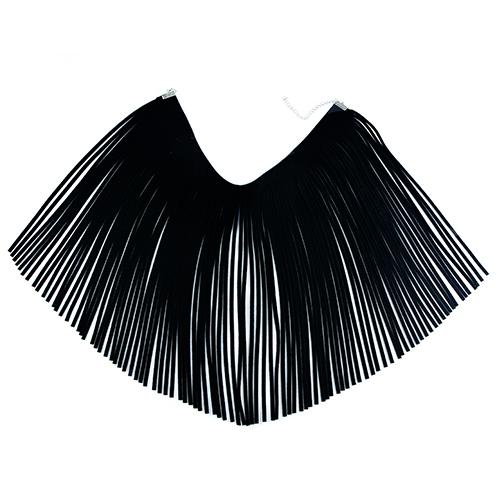 Fashion Tassel Design Black Faux Suede Necklace