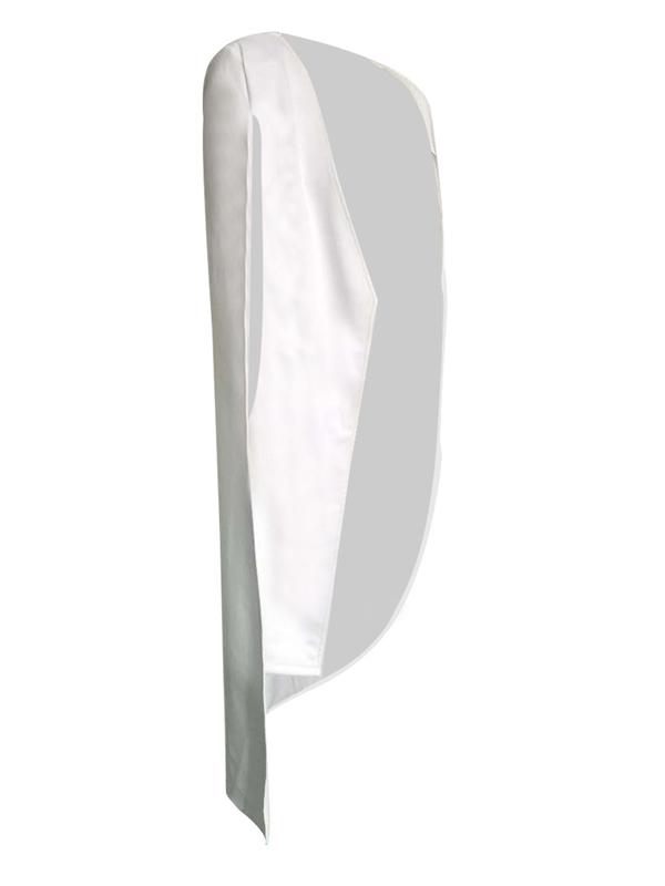 Trendy Long Sleeves Cloak Design White Healthy Fabric Coat