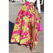 Casual Printed Maxi Skirt