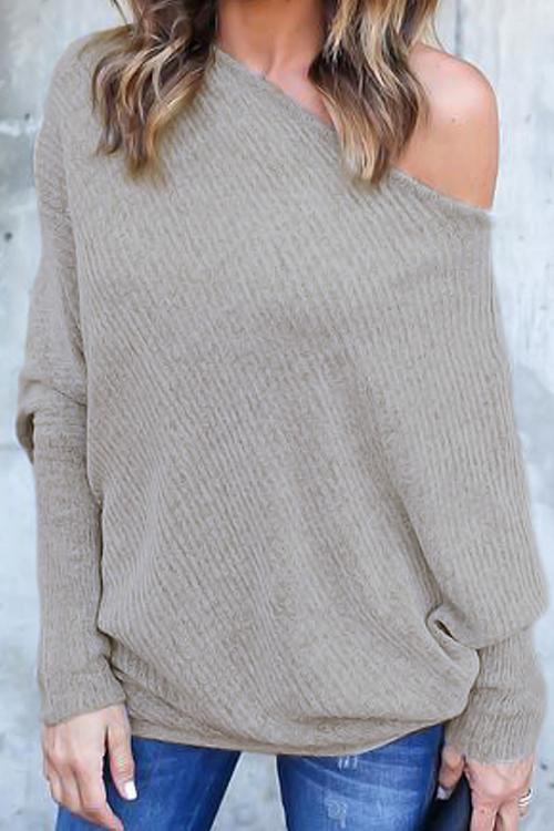 Love Trendy Bat Sleeves Sweaters