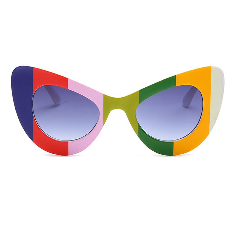Stylish Color-block PC Sunglasses