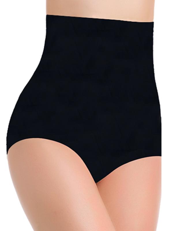 Euramerican High Waist Black Nylon Panties