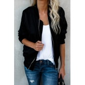 Lovely For Her Pleasure Zipper Black Jacket