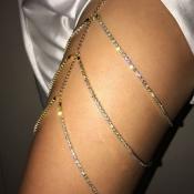 Модная полая золотая цепочка тела