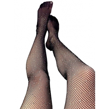 Sexy Sequined Decorative Black Acrylic Bodystocking
