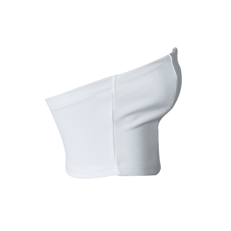 Sexy V-shaped Hollow-out White Polyester Corsets