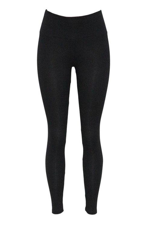Freizeit Elastische Taille Schwarz Baumwolle Blends Leggings