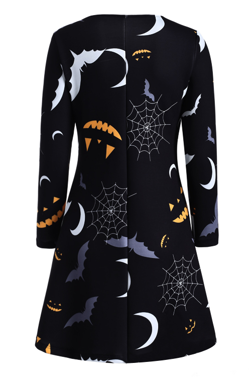 See You Halloween Equipment Black Mini Dress