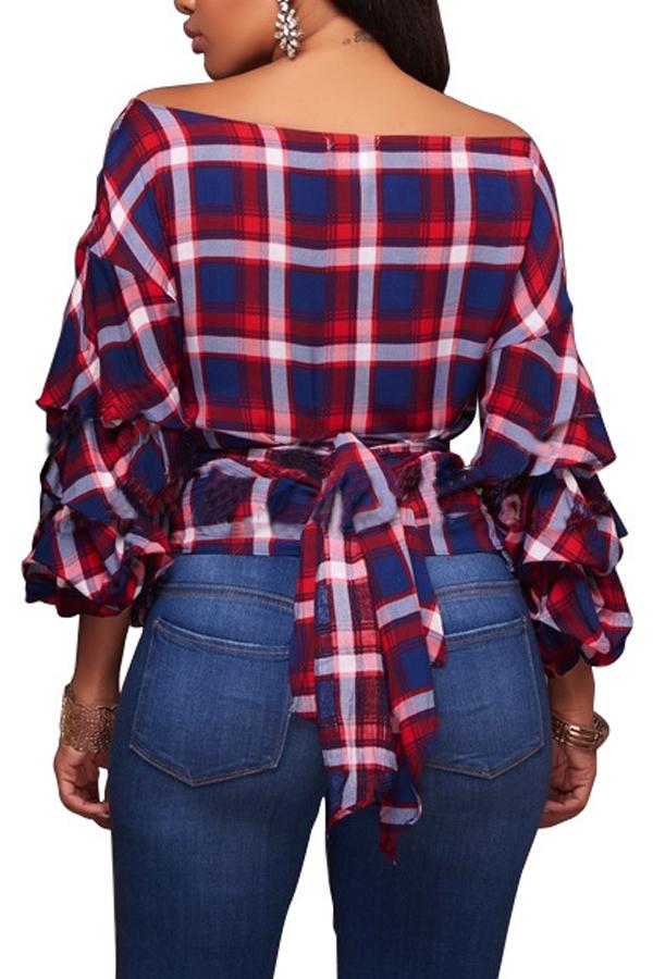 Camisas De Poliéster Rojas Con Cuello En V Y Cuello En V De Moda.