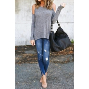 Lovely Gentle Off The Shoulder Casual T-shirt