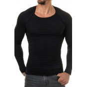 Euramerican Round Neck Long Sleeves Black Acrylic