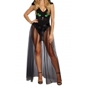 Pretty Kitty Bodysuit Cosplay Costume(With Skirts)