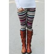 Euramerican High Waist Printed Polyester Leggings