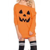 Halloween Night Dew Shoulder T-shirt