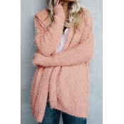 Warming Trend Hooded Pink Wool Coat