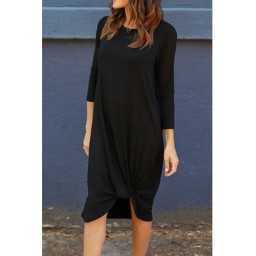 Lovely Fallin  For You Basic Irregular Casual Dress