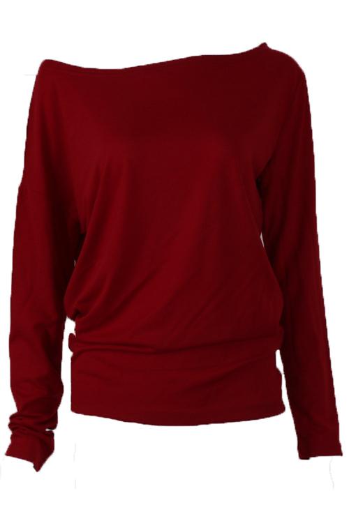 Camicia di cotone rosso di vento di spalla di vernice di tempo libero