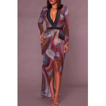 Healthy Fabric Sexy V Neck Cap Sleeve Long Sleeve Sheath Ankle Length Dresses