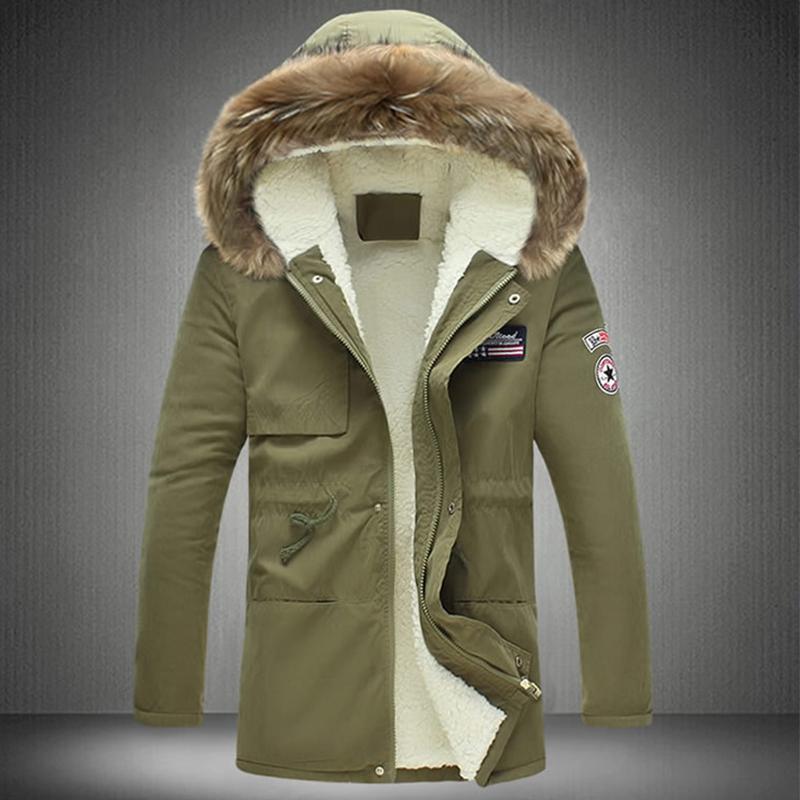 Stylish Hooded Collar Zipper Design Army Green Cotton Coats<br>