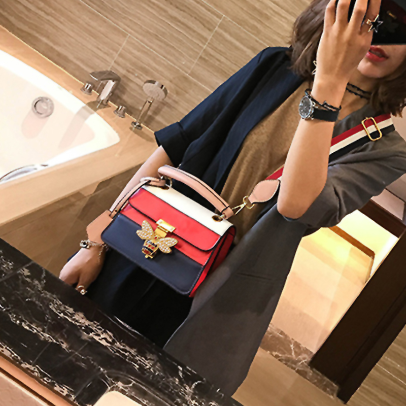 Fashion Patchwork Red PU Clutches Bags
