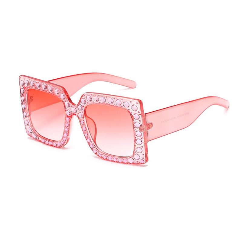 Роскошные Розовые Пластиковые Солнцезащитные Очки