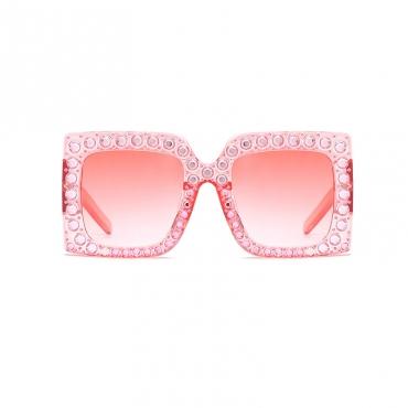 Wunderschöne Pinkfarbene Kunststoff-Sonnenbrille