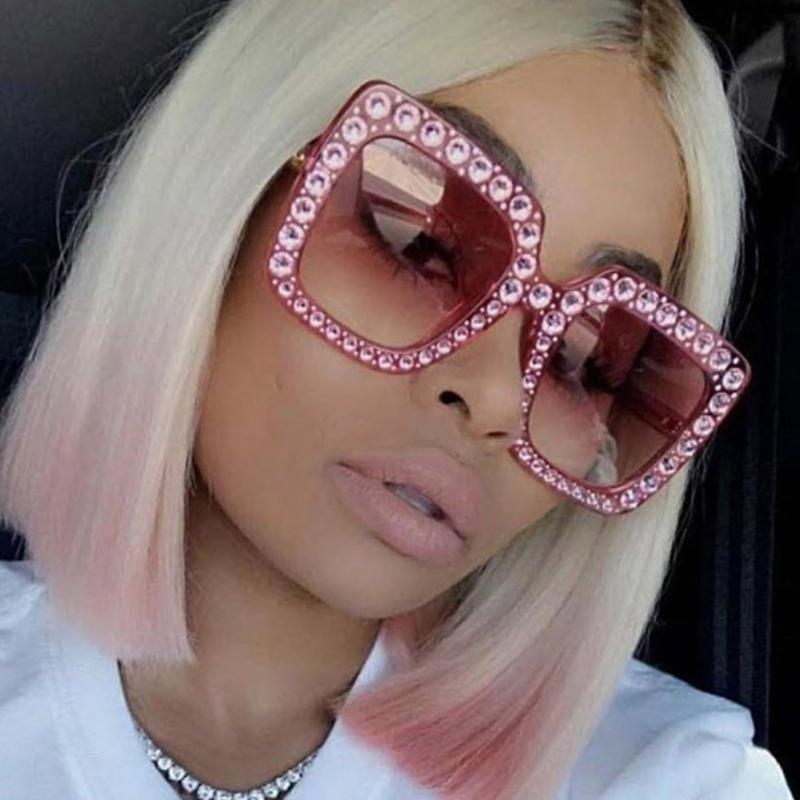 LovelyRetro Diamante Decorative Red PC Sunglasses<br>