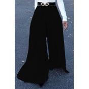 Lovely Trendy Elastic High Waist Black Polyester P