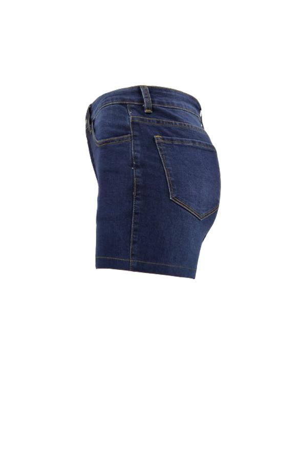 Симпатичная Мода Высокая Талия Темно-синий Джинсовые Молнии Шорты