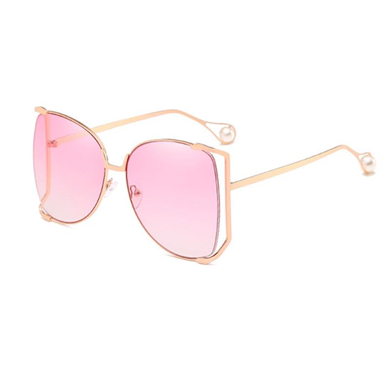 Encantadora Moda Perla Decoración Rosa PC Gafas De Sol