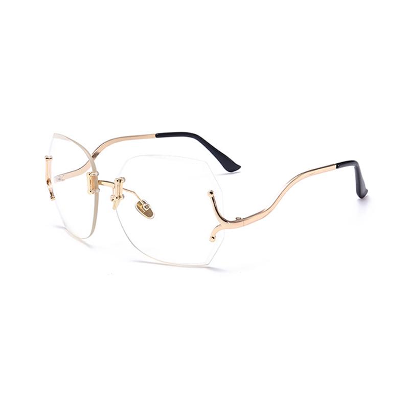 Hermosas Gafas De Sol Transparentes De PC De Lente Transparente De Moda