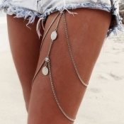 Lovely Retro Silver Metal Body Chain