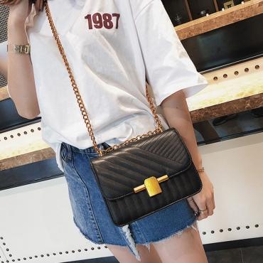 Lovely Fashion Black PU Crossbody Bag