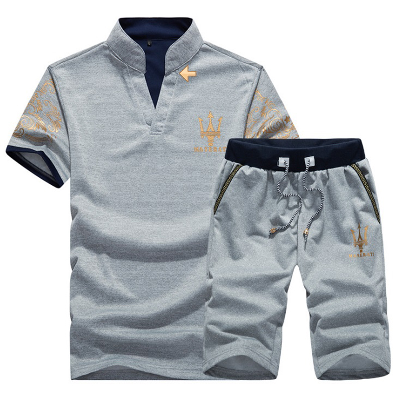 Lovely Casual Turndown Collar Printing Grey Polyester Two-piece Shorts Set