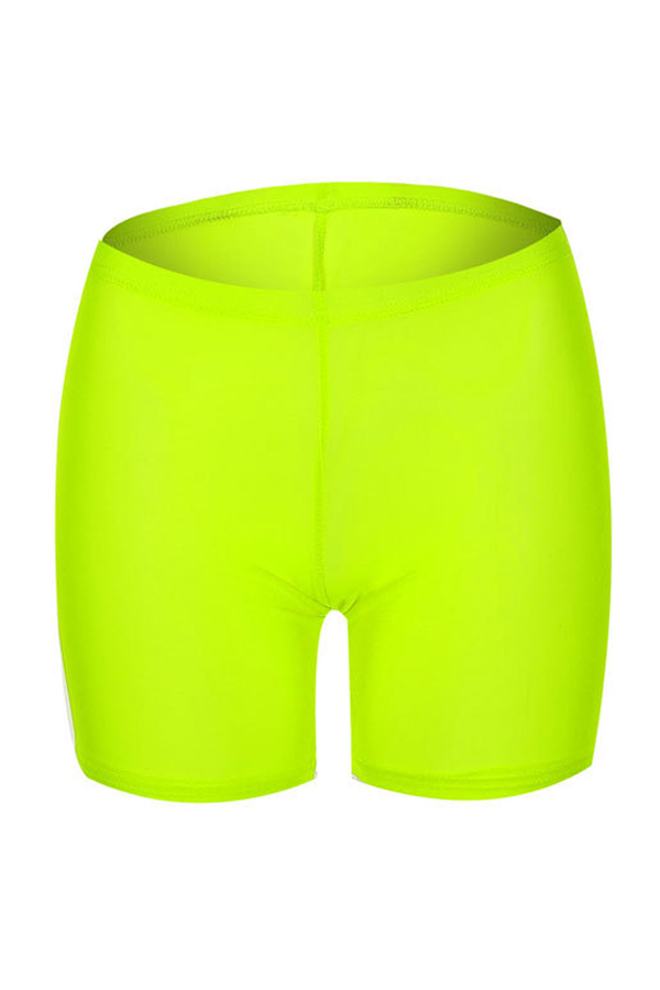 Lovely Chic High Elastic Waist See-Through Green Shorts(Without Subcoating)