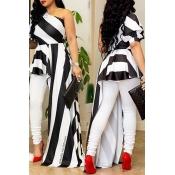 LovelyChic Show A Shoulder Irregular Design Black+