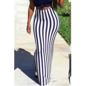 LovelyCasual Striped Purple Floor Length Skirts