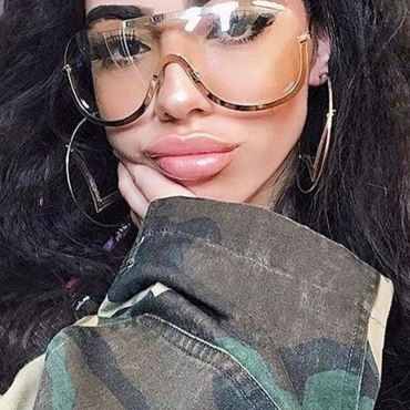 Occhiali Da Sole Trasparenti In Metallo Adorabile