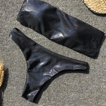 Lovely Black Two-piece Swimwear