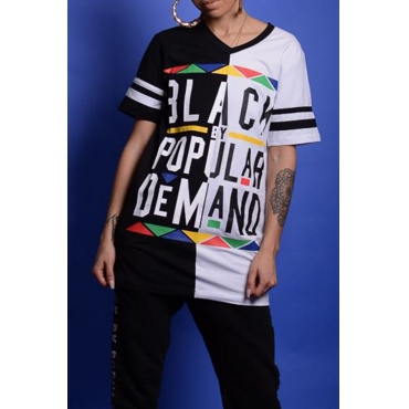 LovelyCasual Round Neck Letters Printed White T-shirt( Male And Female T-shirt)