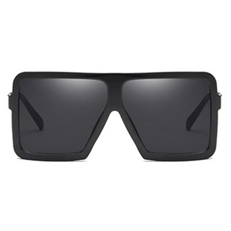 Lovely Fashion Square Frame Black Sunglasses