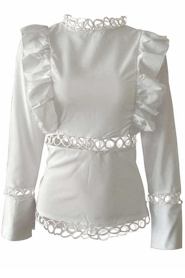 Lovely Polyester Sweet Solid Regular sleeve Long Sleeve O Neck Blouses&Shirts