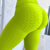 Lovely Euramerican High Waist Skinny Green Legging
