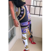 Lovely Ethnic Style Printed Skinny Multicolor Pant